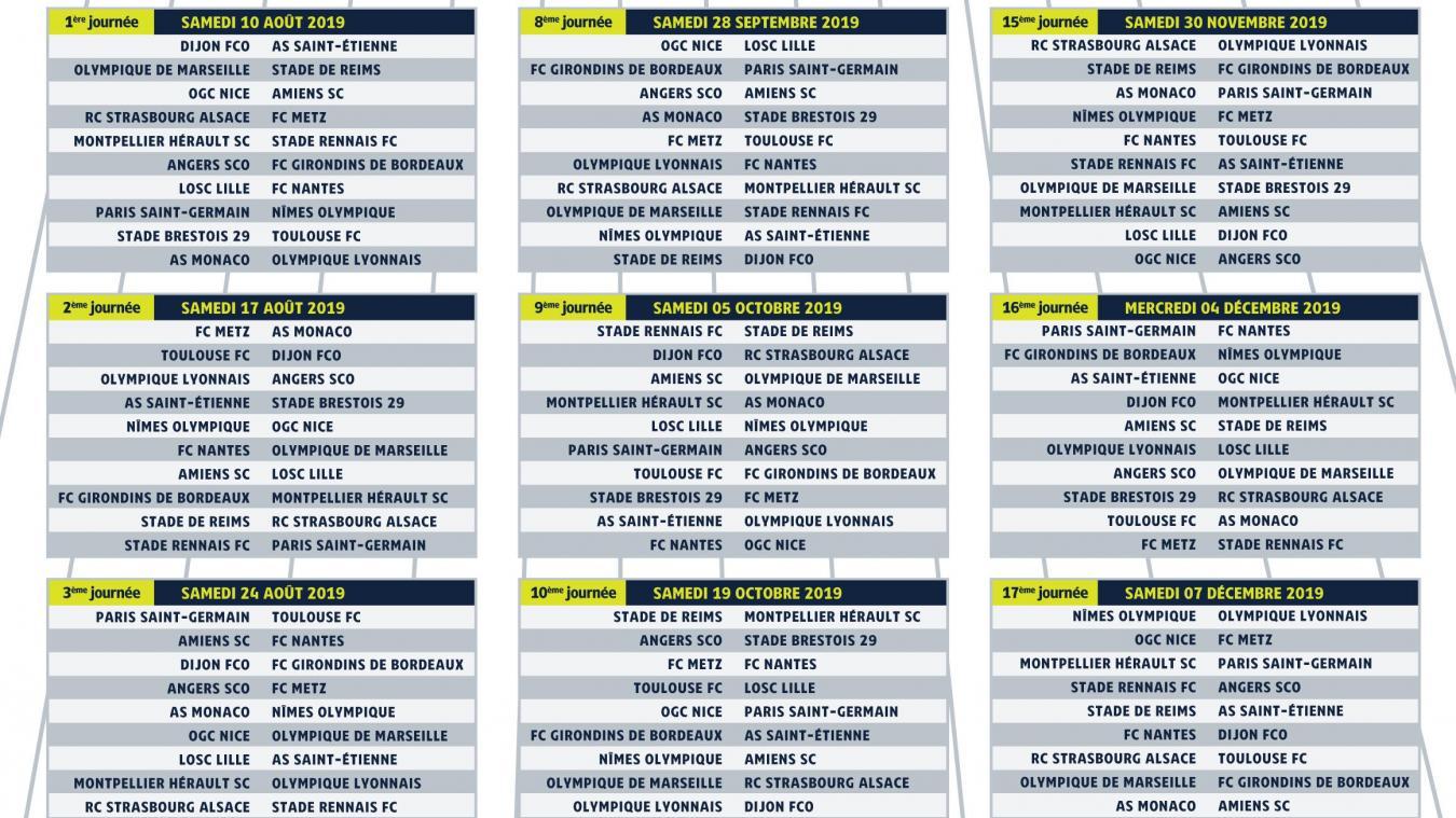 Calendrier Ligue 1 Losc.Calendrier Du Losc 2020 Calendrier 2020 Modeltreindagen