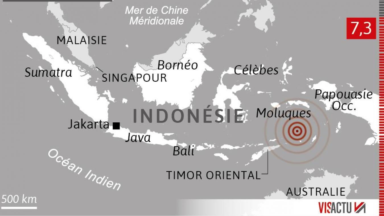 L'Indonésie frappée par un puissant séisme de magnitude 7,3