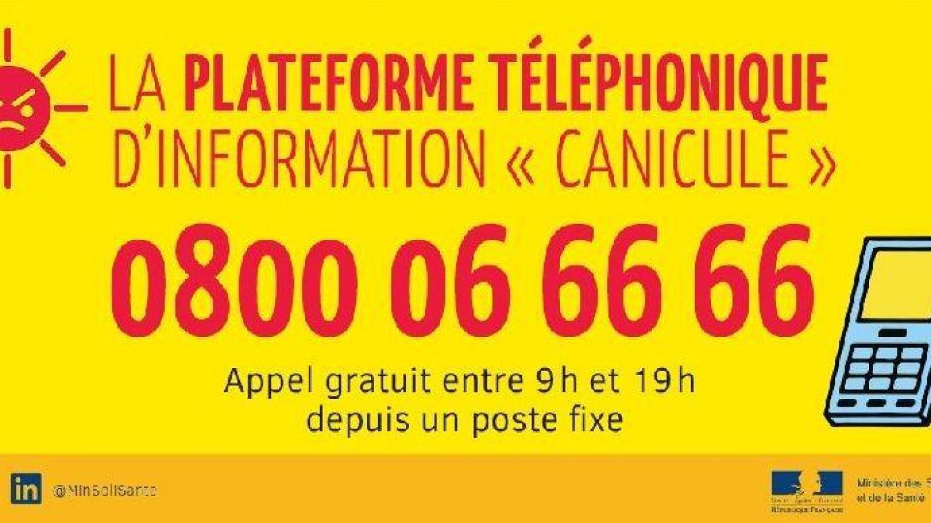 Canicule Info Service, le numéro vert a reçu 2800 appels en trois jours