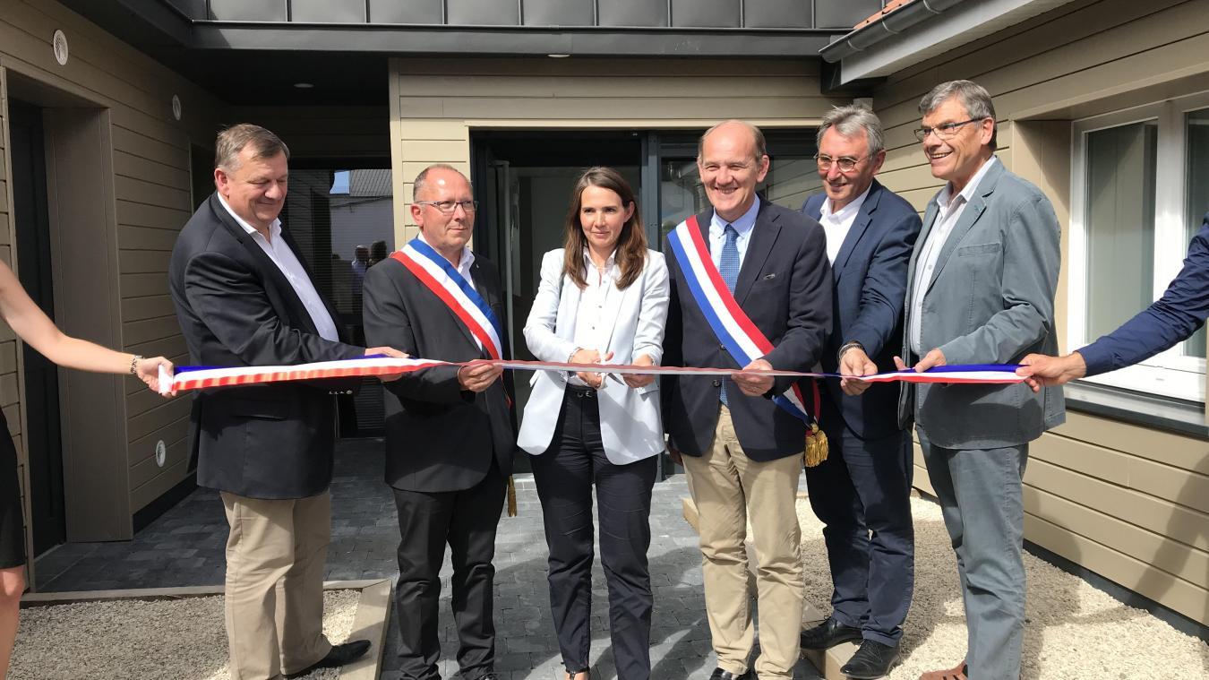 La maison médicale a été inaugurée par la sous-préfète de l'arrondissement de Montreuil, Marie Baville.