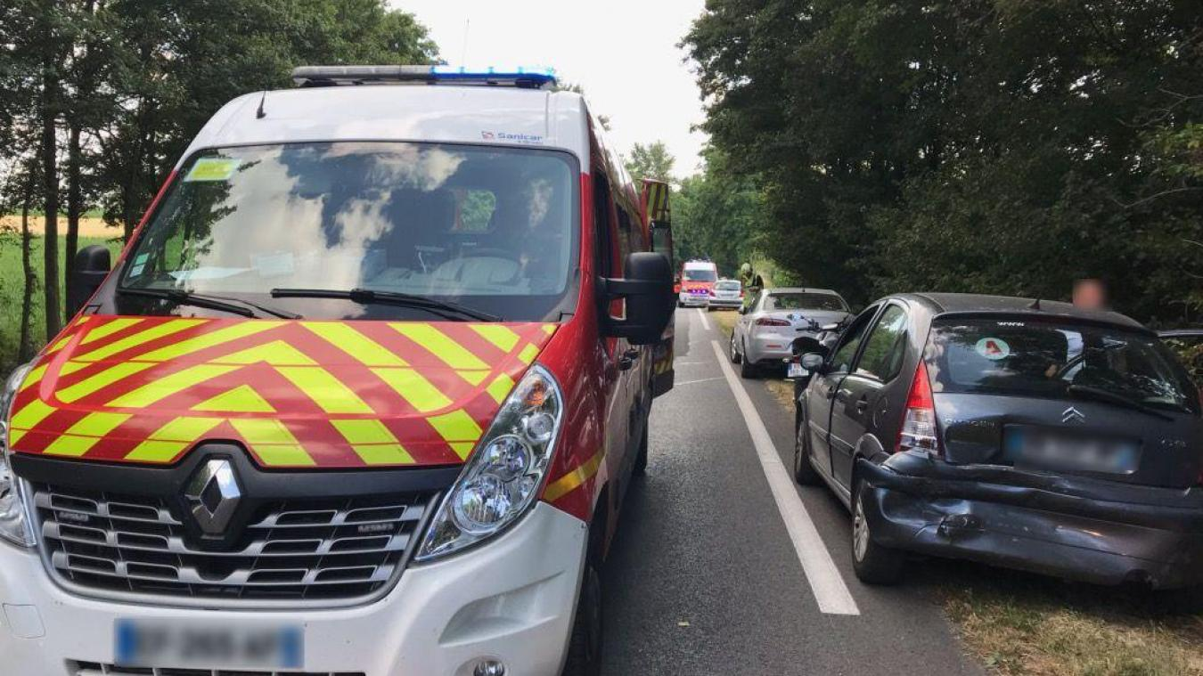 À Trith, une collision entre trois autos sur la RD40 fait quatre blessés légers - La Voix du Nord