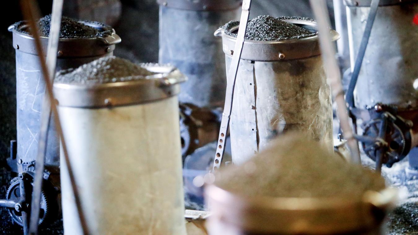 Les marmites qui l'alimentent sont déplacées au fur et à mesure. « C'est comme une vague, ça pousse, ça pousse », dit-il. PHOTO SAMI BELLOUMI
