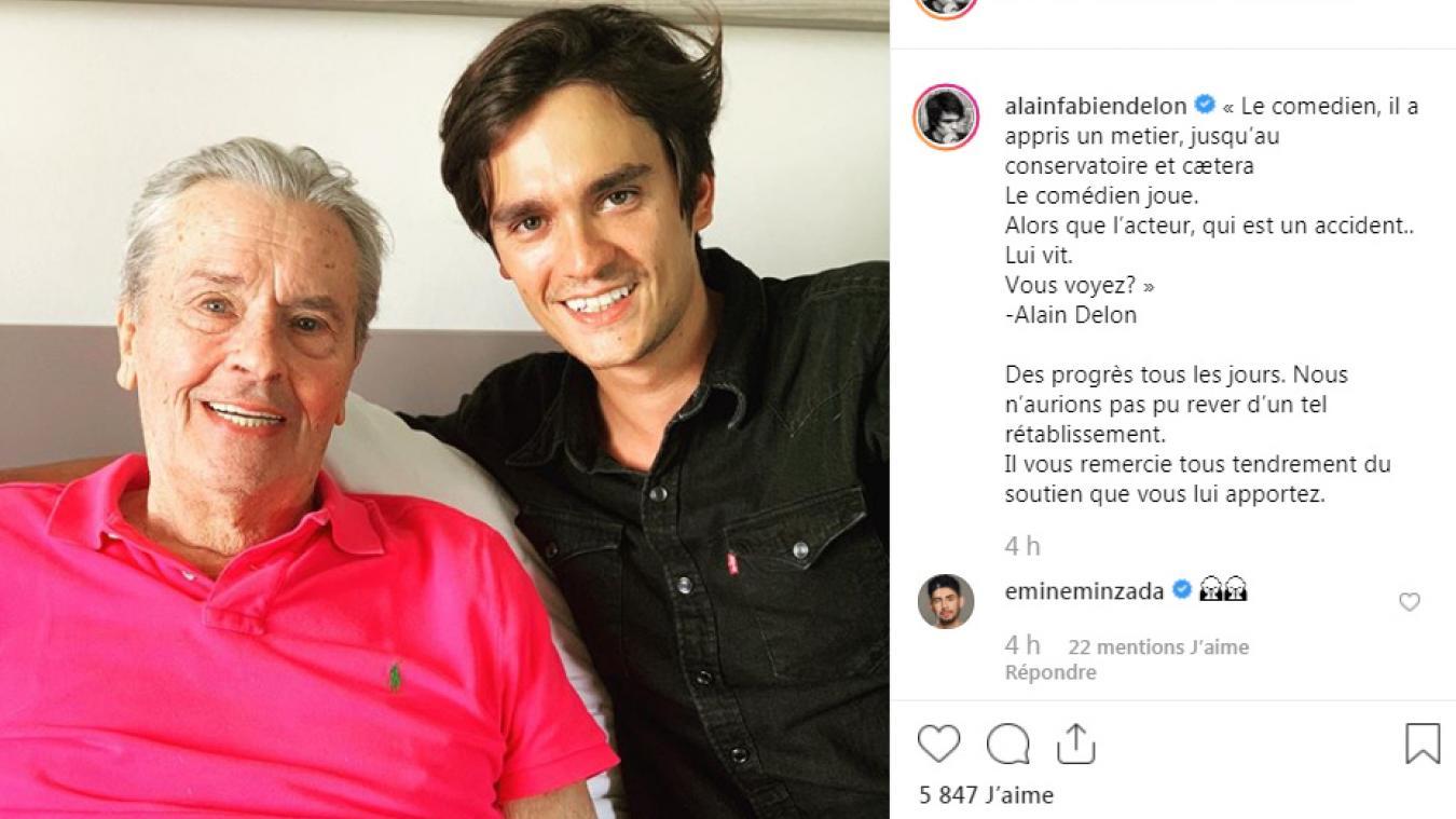 Alain Delon Deux Mois Apres Son Avc Son Fils Donne Des Nouvelles Rassurantes