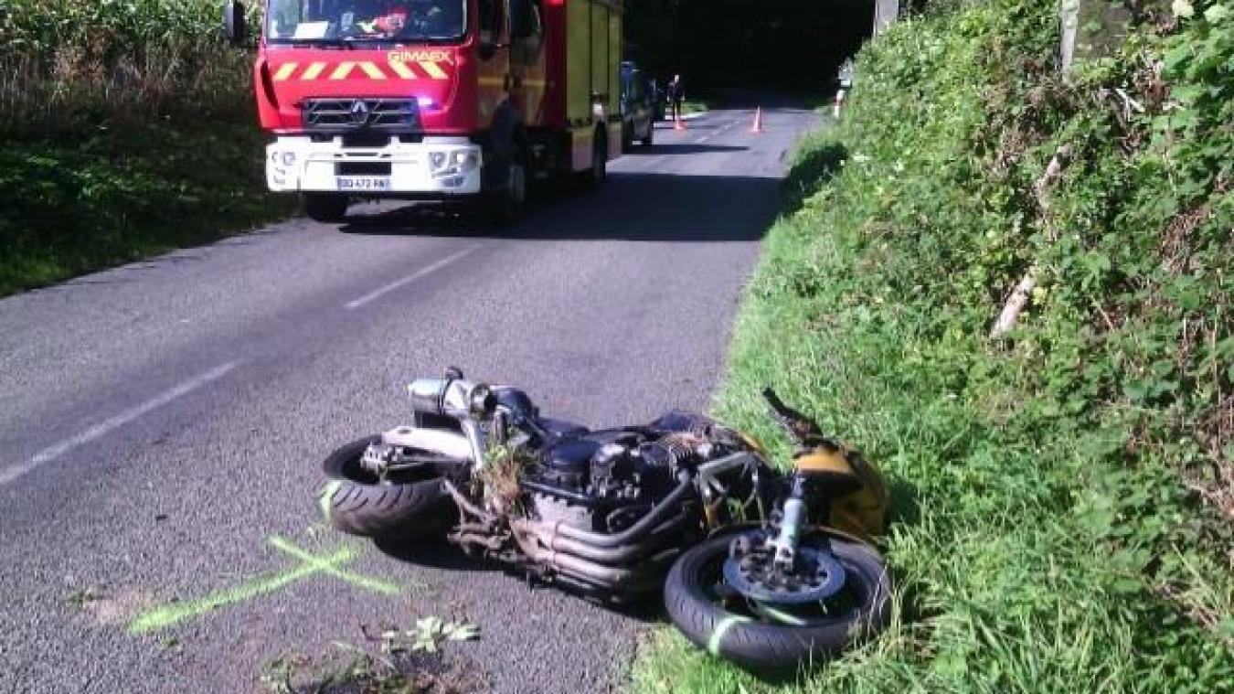 L'accident a eu lieu sur la départementale entre Samer et Doudeauville
