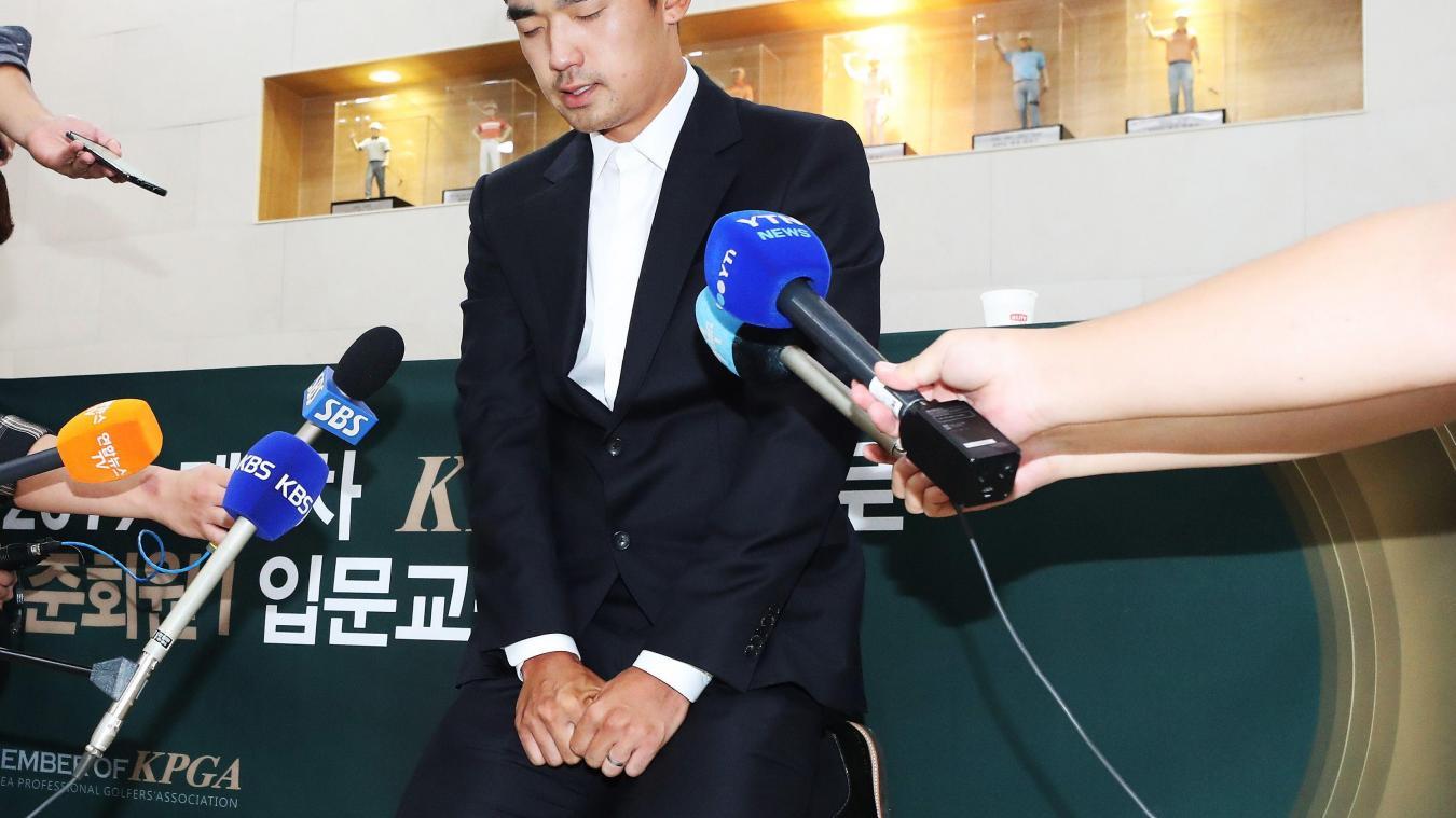 Un Sud-coréen suspendu trois ans pour un doigt d'honneur — Golf