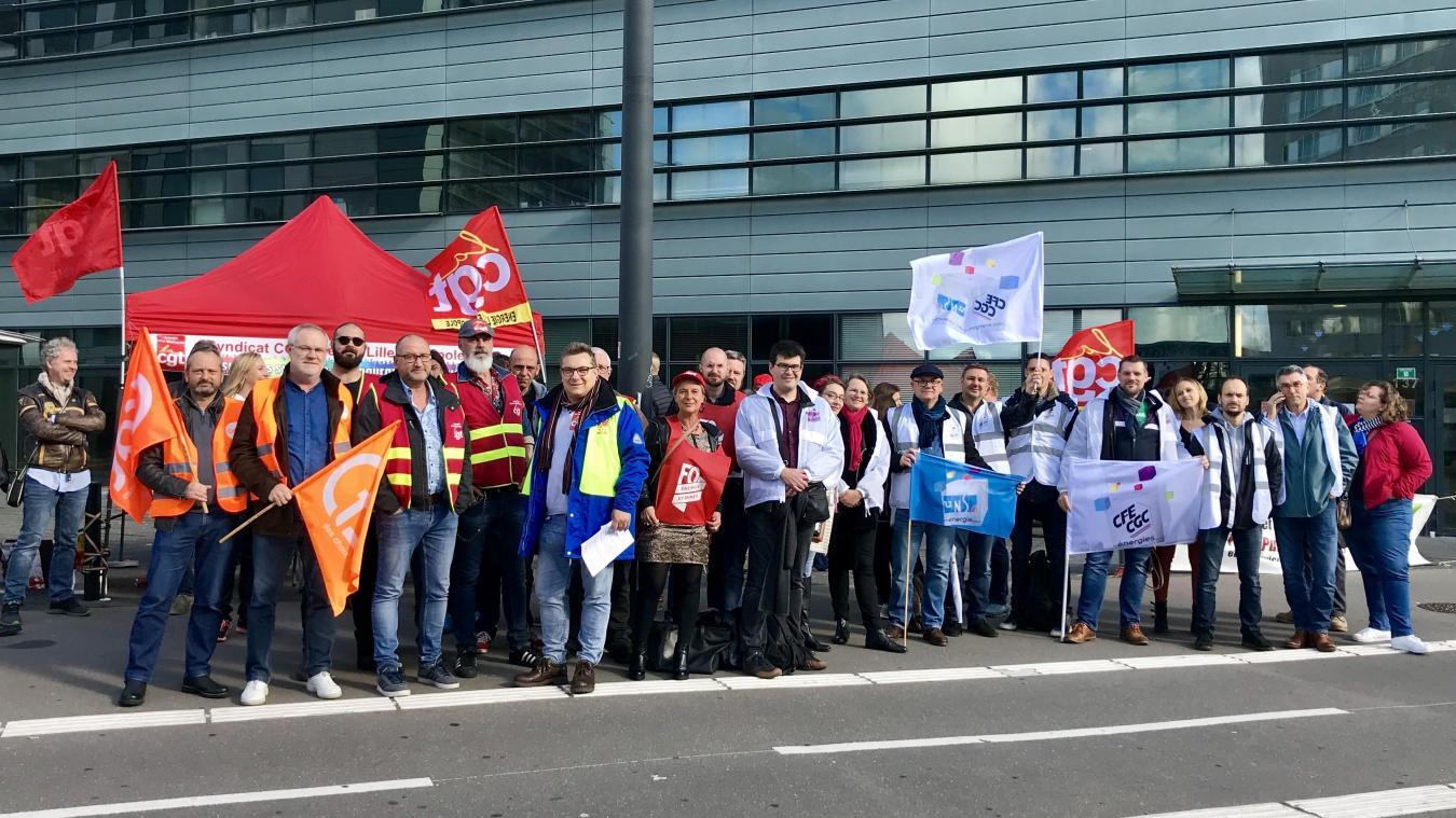 À Lille, les syndicats demandent la tête d'Hercule à la direction d'EDF