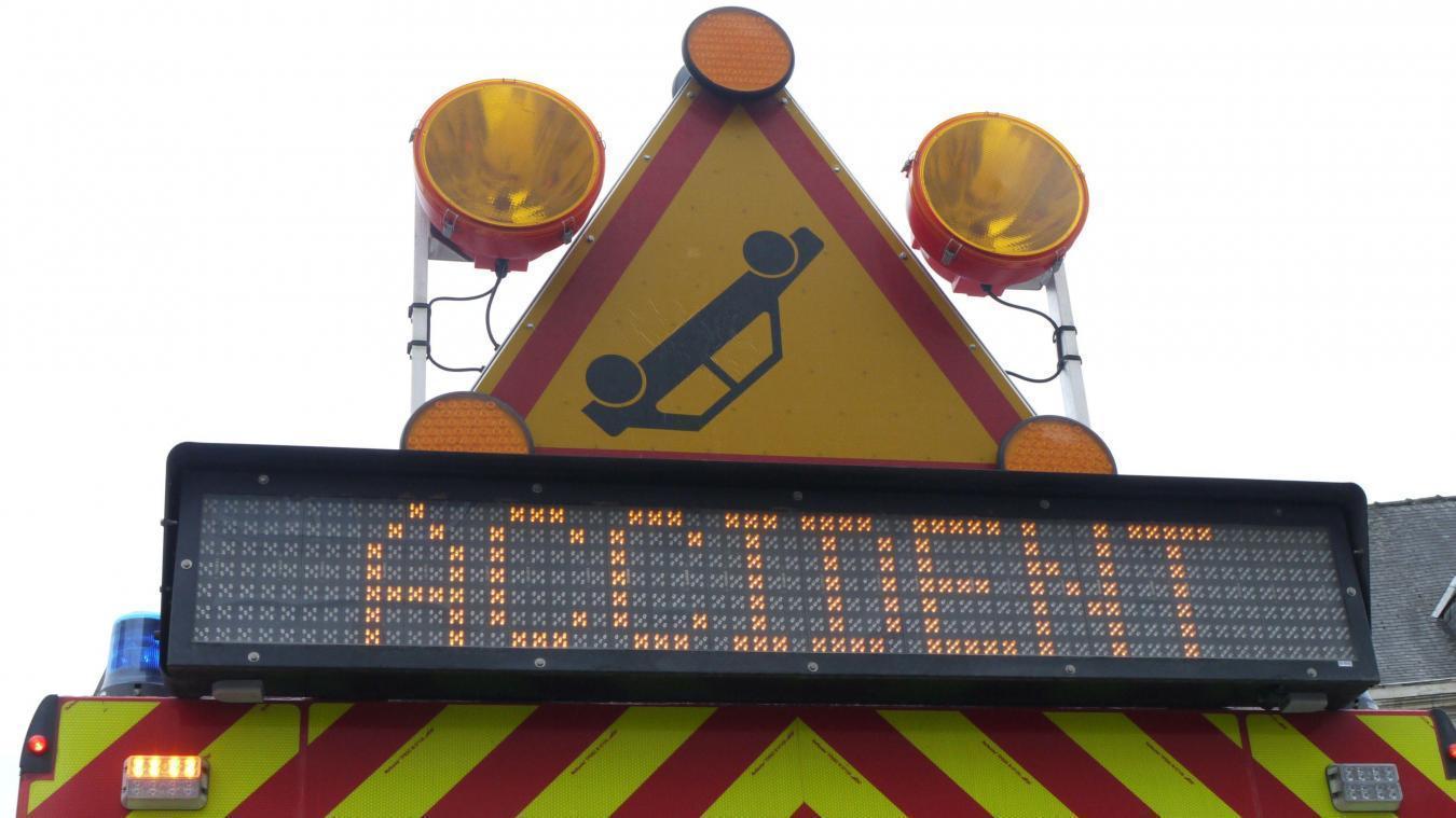 L'autoroute A22 coupée dans le sens Belgique-France à la suite d'un accident