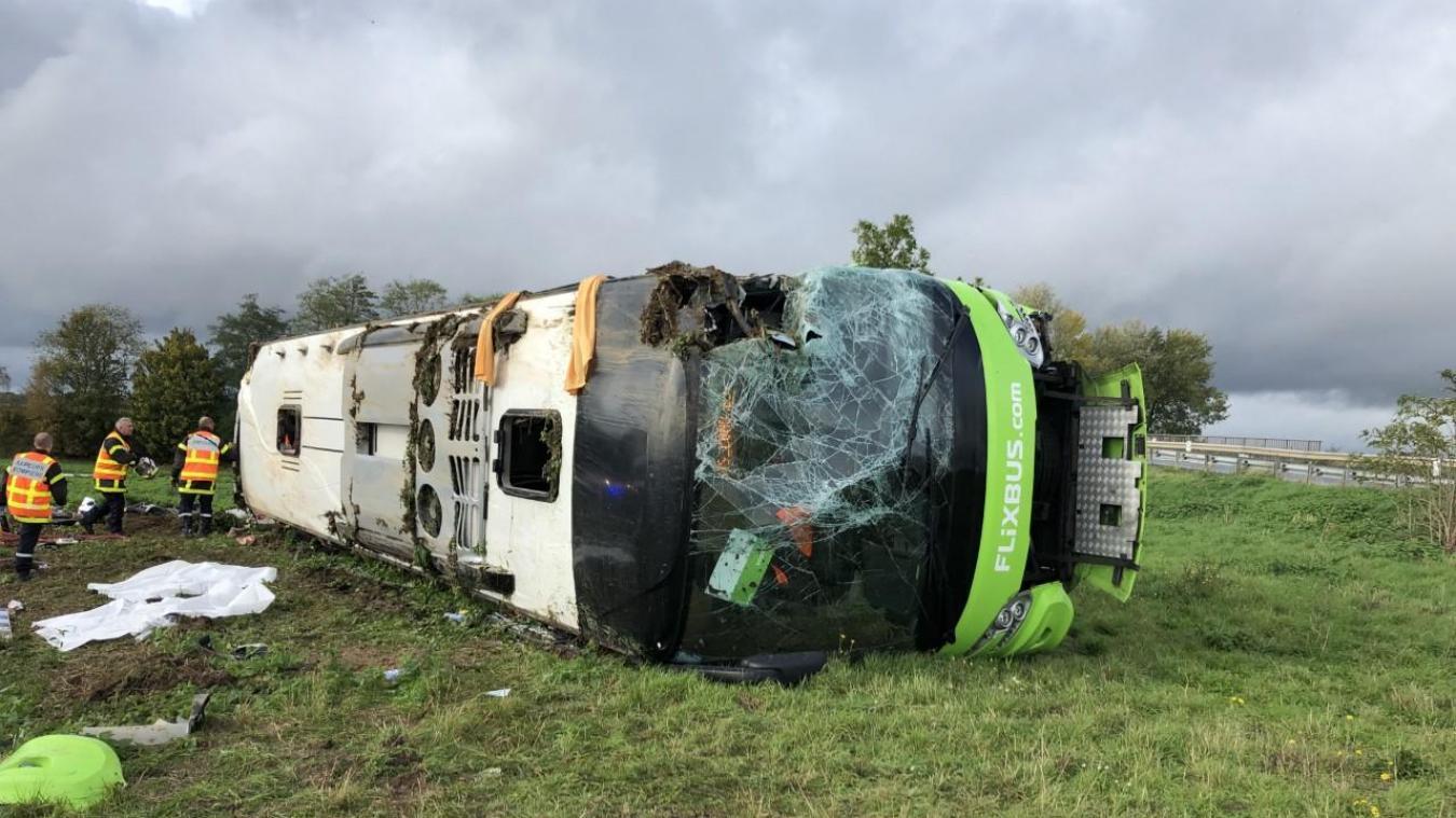 Somme: Accident d'un car Flixbus sur l'A1 faisant une trentaine de blessés