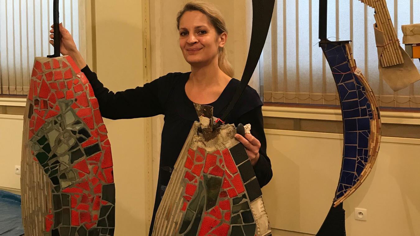 Hazebrouck: l'œuvre de l'artiste singulier, Jean Linard, à découvrir à la biennale de mosaïque - La Voix du Nord