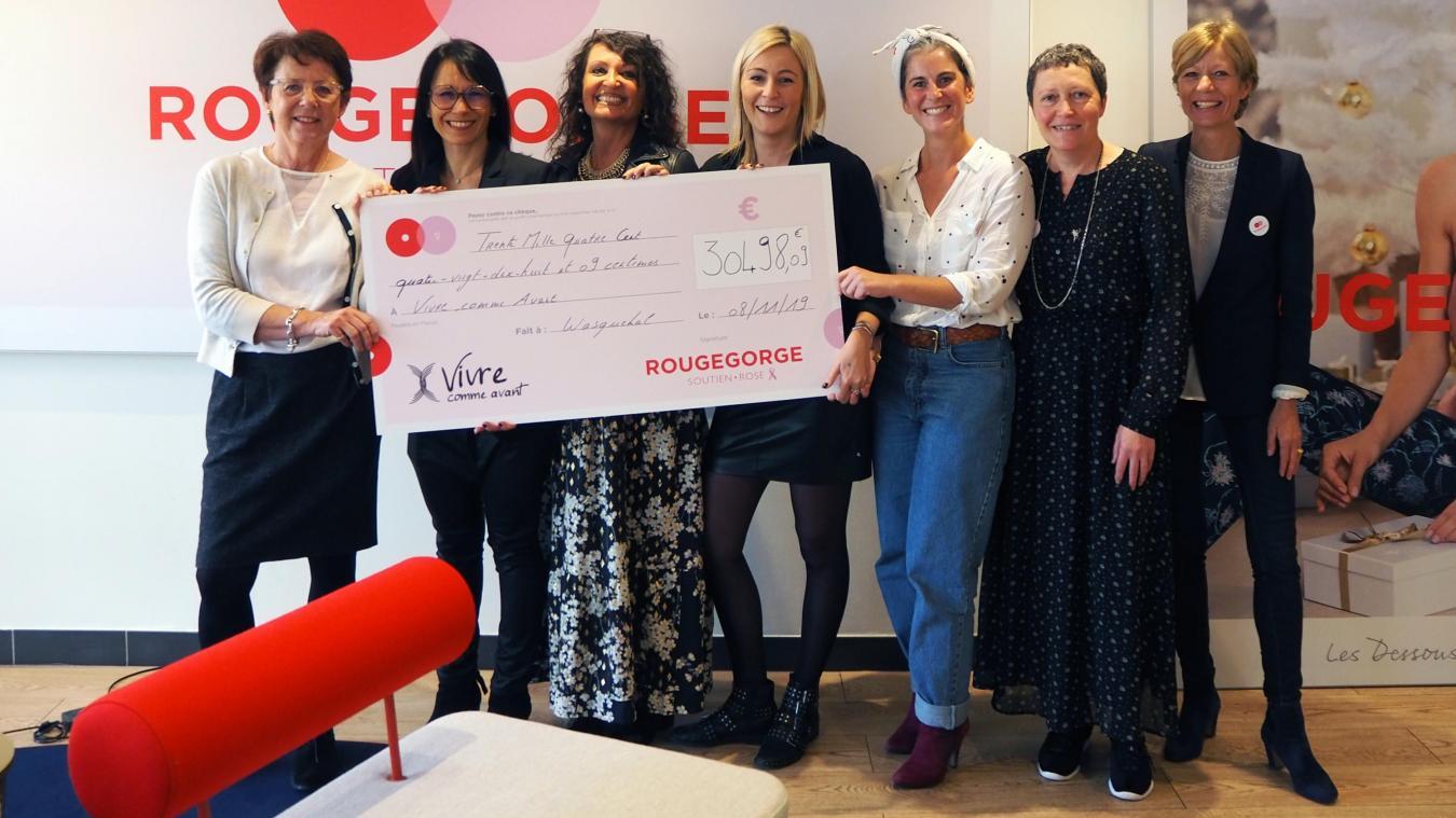 Wasquehal: Rougegorge Lingerie s'engage auprès de l'association Vivre comme avant - La Voix du Nord
