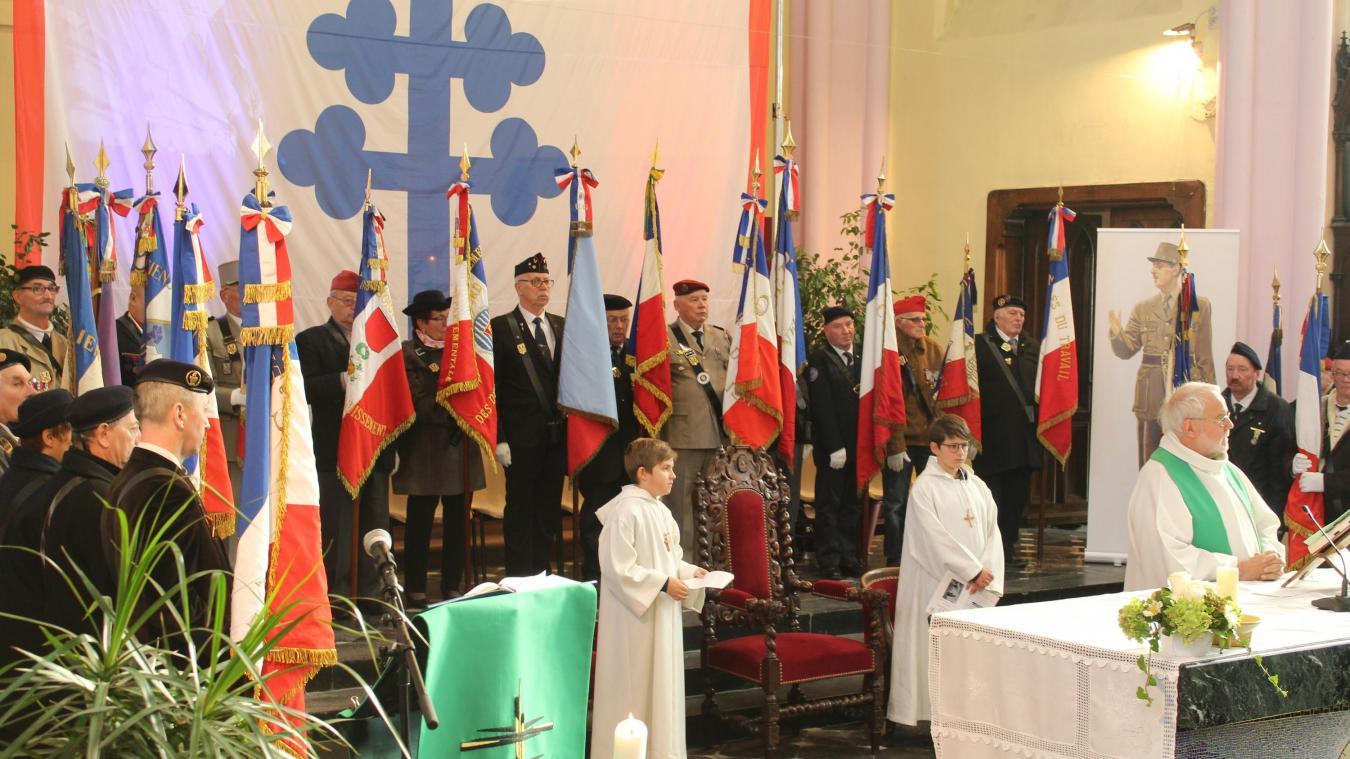 Aniche : l'hommage anichois au général De Gaulle, chef de la France libre - La Voix du Nord