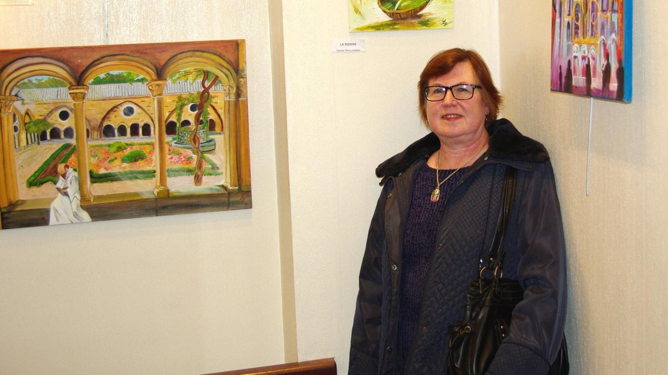 Linselles: les œuvres de Yolande Thierry exposées en mairie - La Voix du Nord