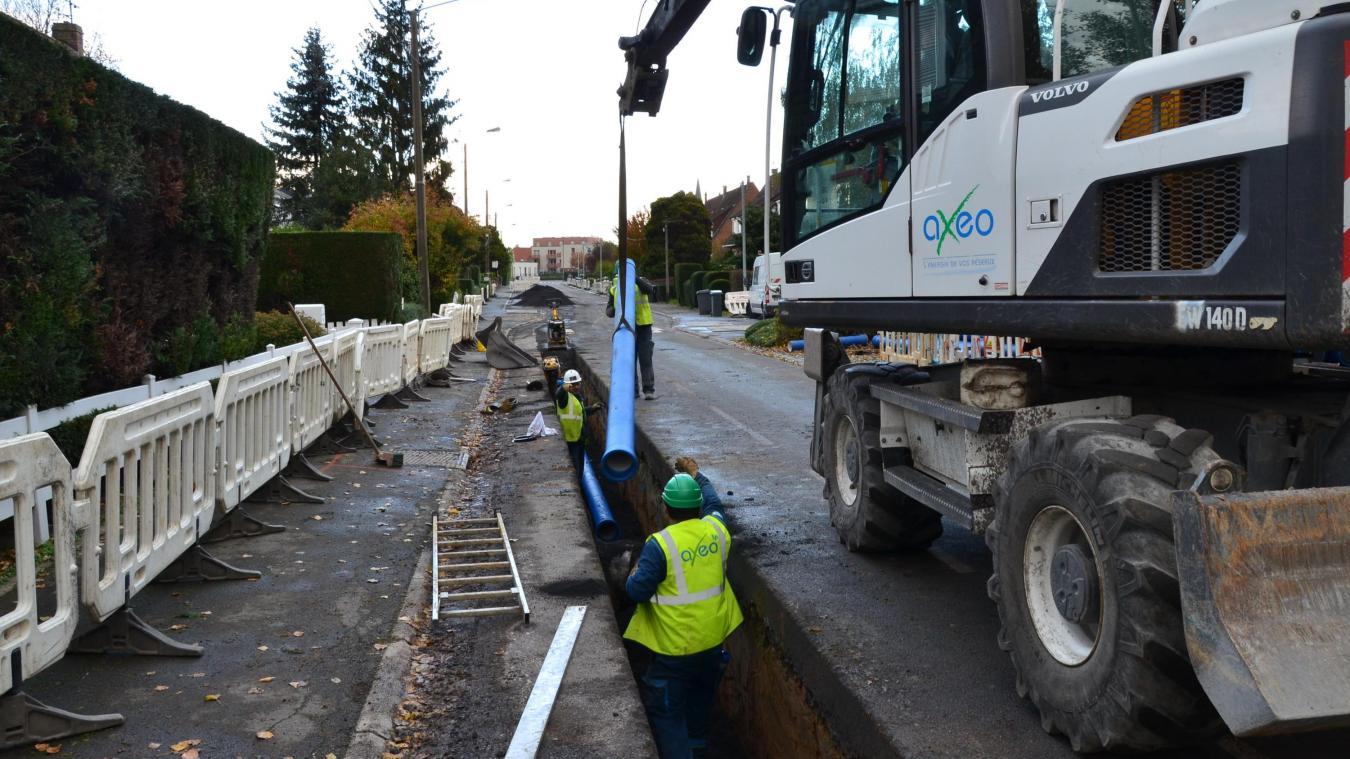 Les travaux ont commencé rue de l'Égalité, à Hallennes-lez-Haubourdin - La Voix du Nord