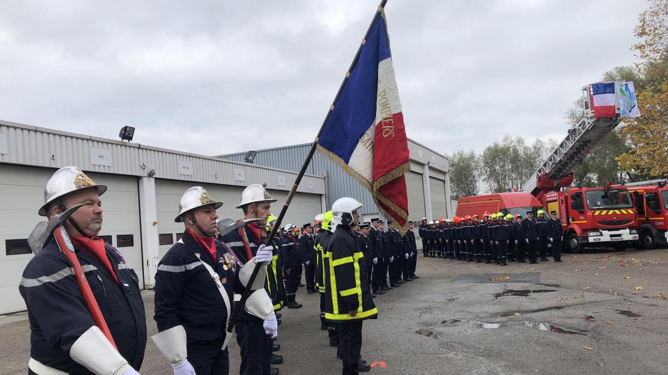 Les pompiers de Saint-Omer fêtent la Sainte-Barbe avec le début des travaux de leur nouvelle caserne - La Voix du Nord