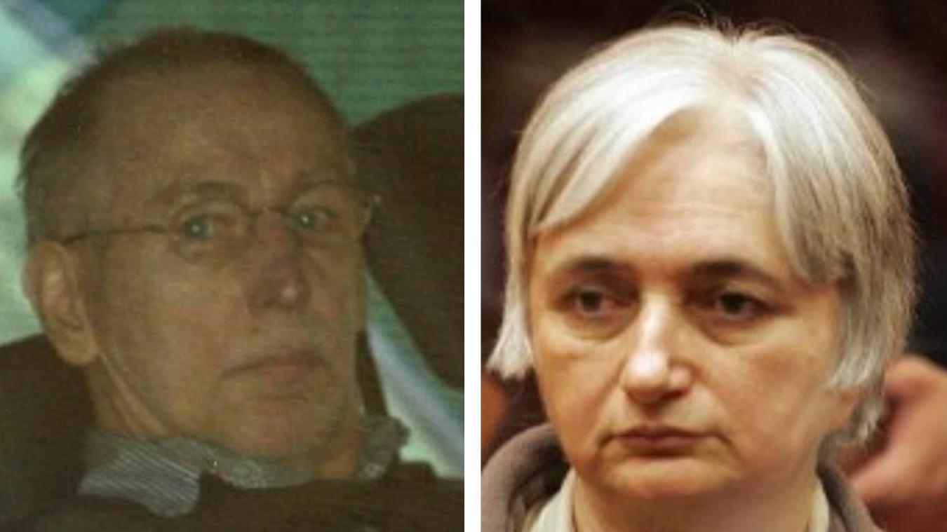 Michel Fourniret et son ex-femme Monique Olivier. Photos AFP