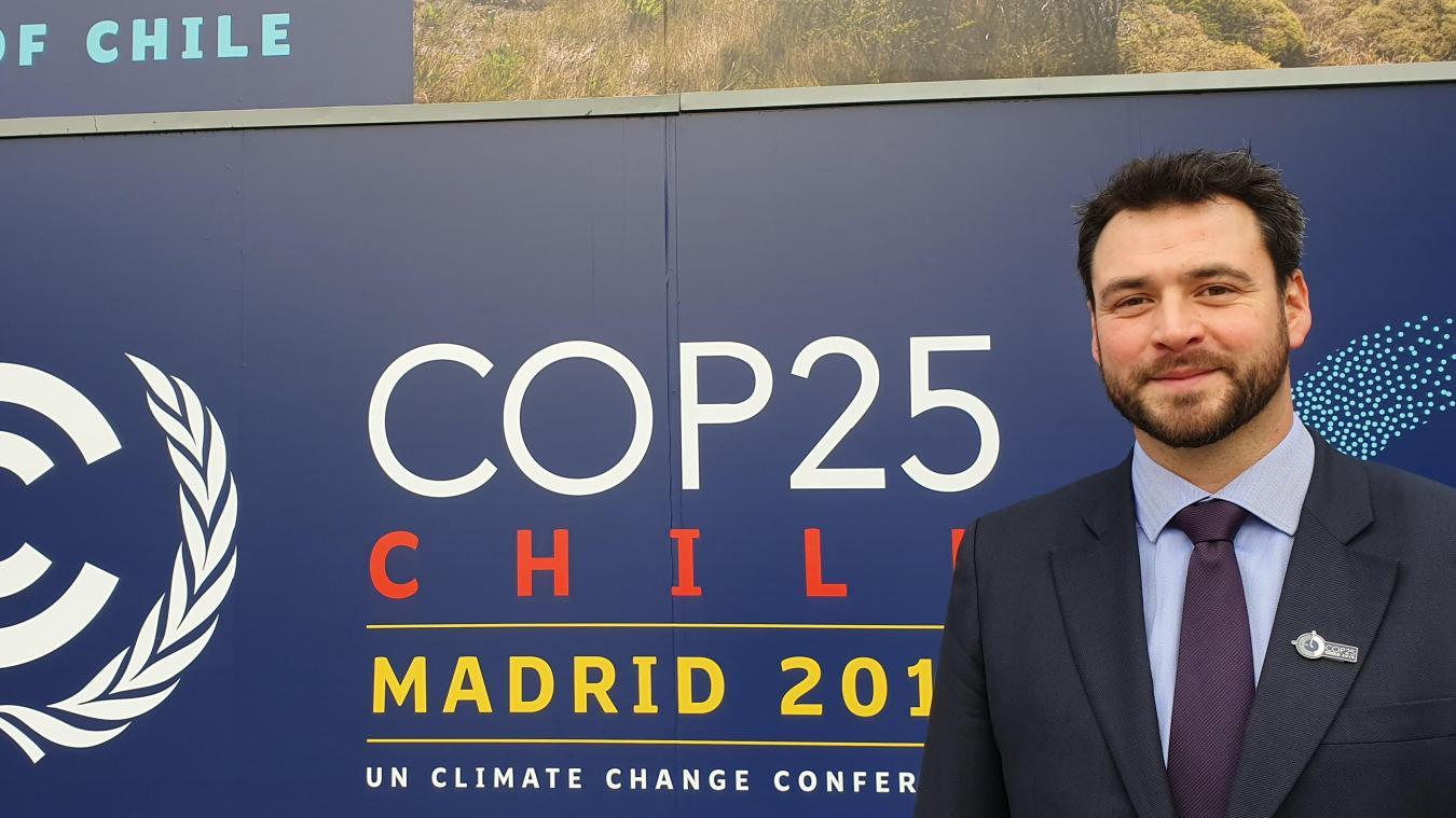 Le conseiller départemental du canton de Marly Jean-Noël Verfaillie a participé à la COP25 durant cinq jours à Madrid.
