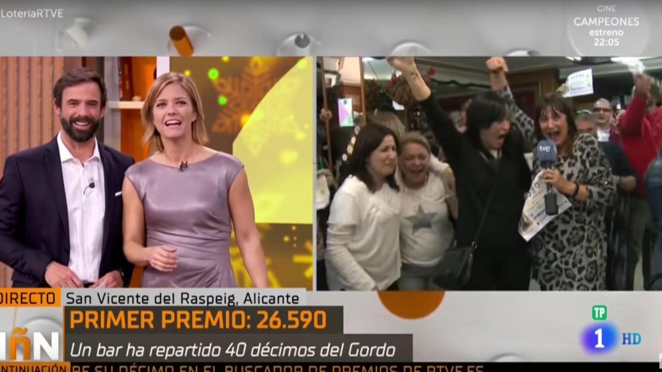 Une Journaliste Espagnole Apprend En Direct Qu Elle A Gagne