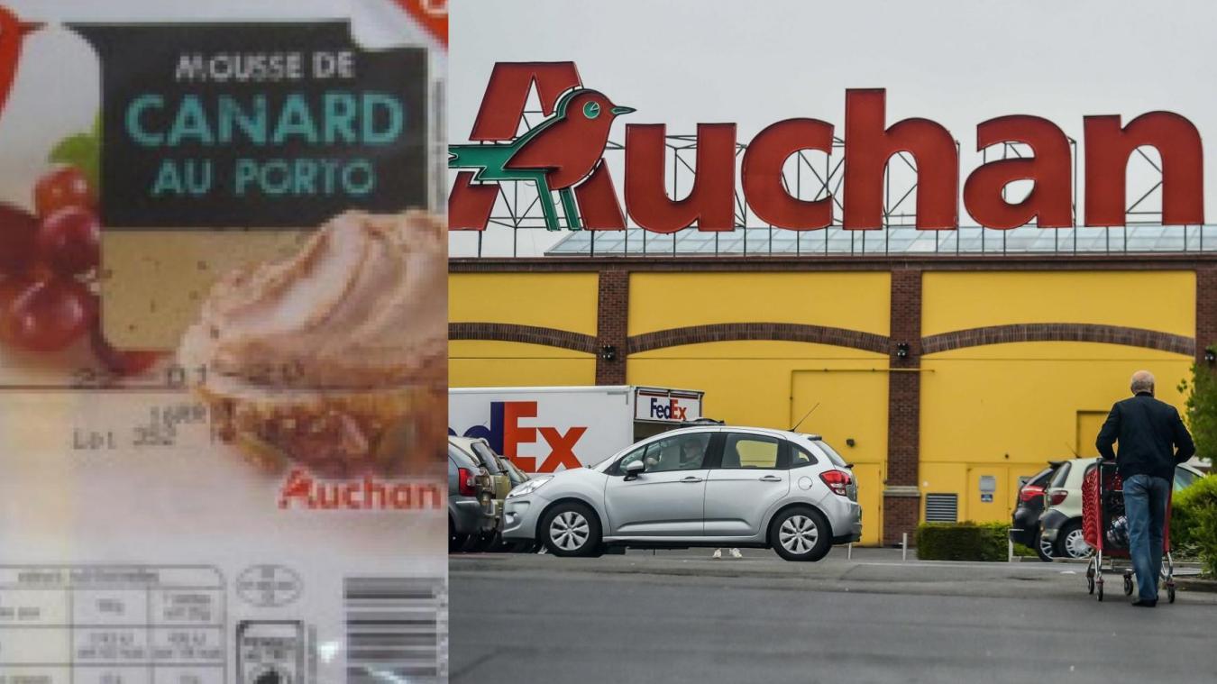 Auchan rappelle un lot de mousse de canard contaminé à la Listéria