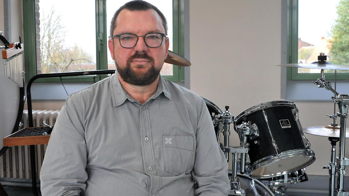 Ludovic Cuvelier, le nouveau président de l'harmonie municipale.