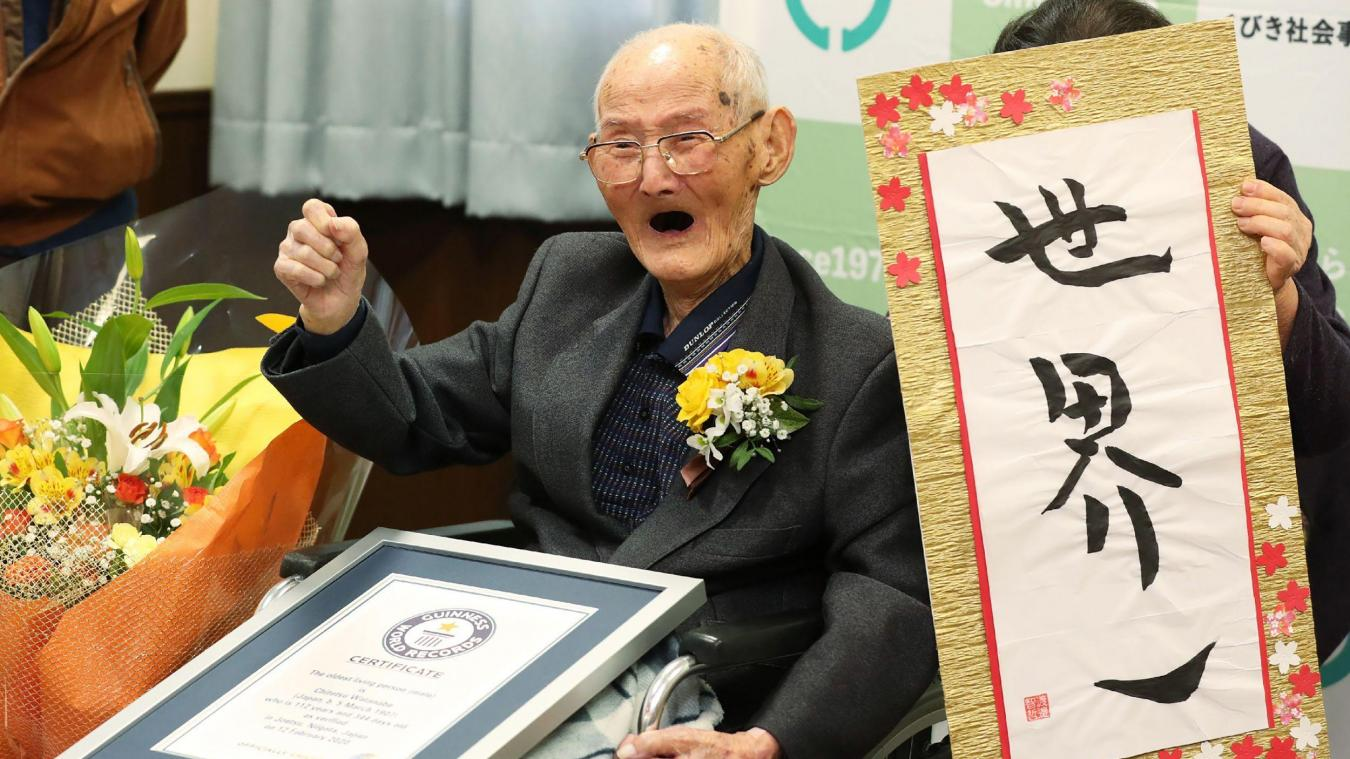 Le doyen de l'humanité est un Japonais de 112 ans