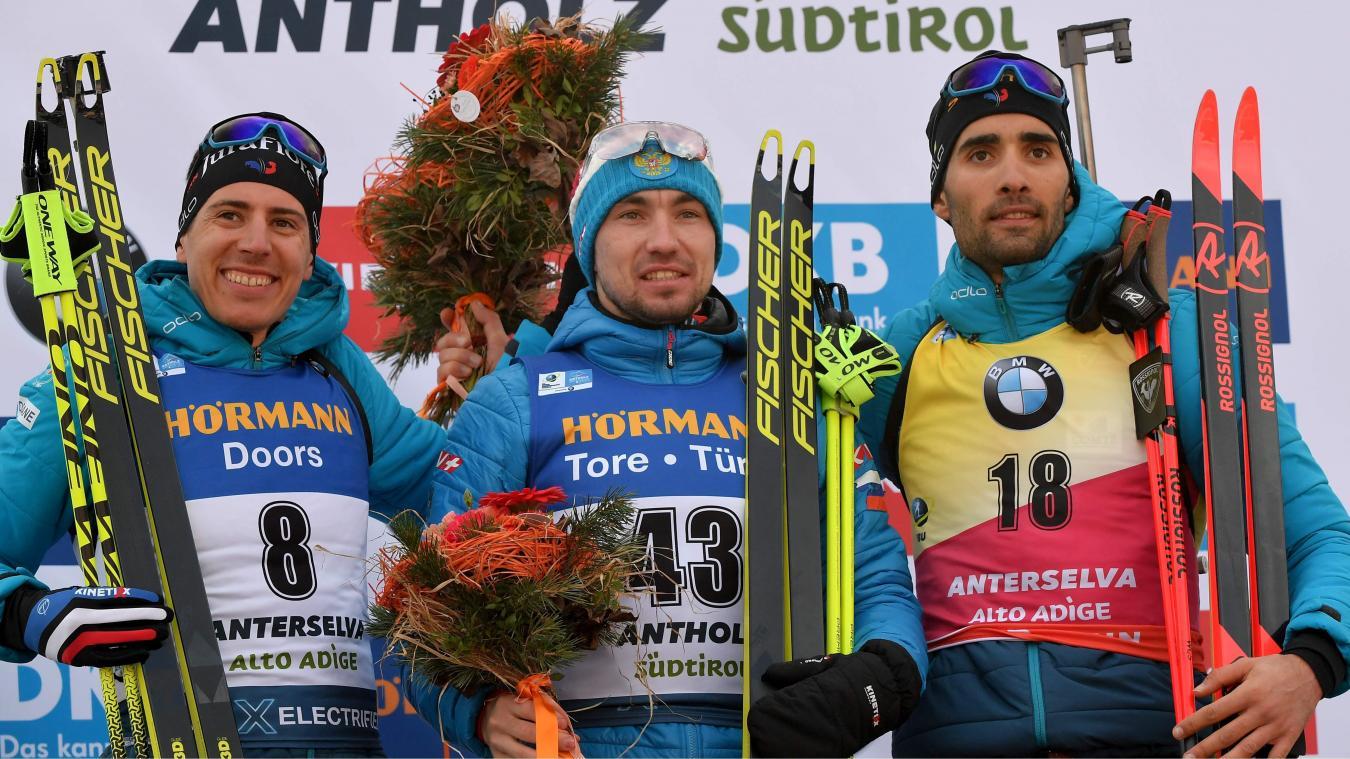 Sprint raté pour Simon Desthieux, Quentin Fillon-Maillet et Martin Fourcade médaillés