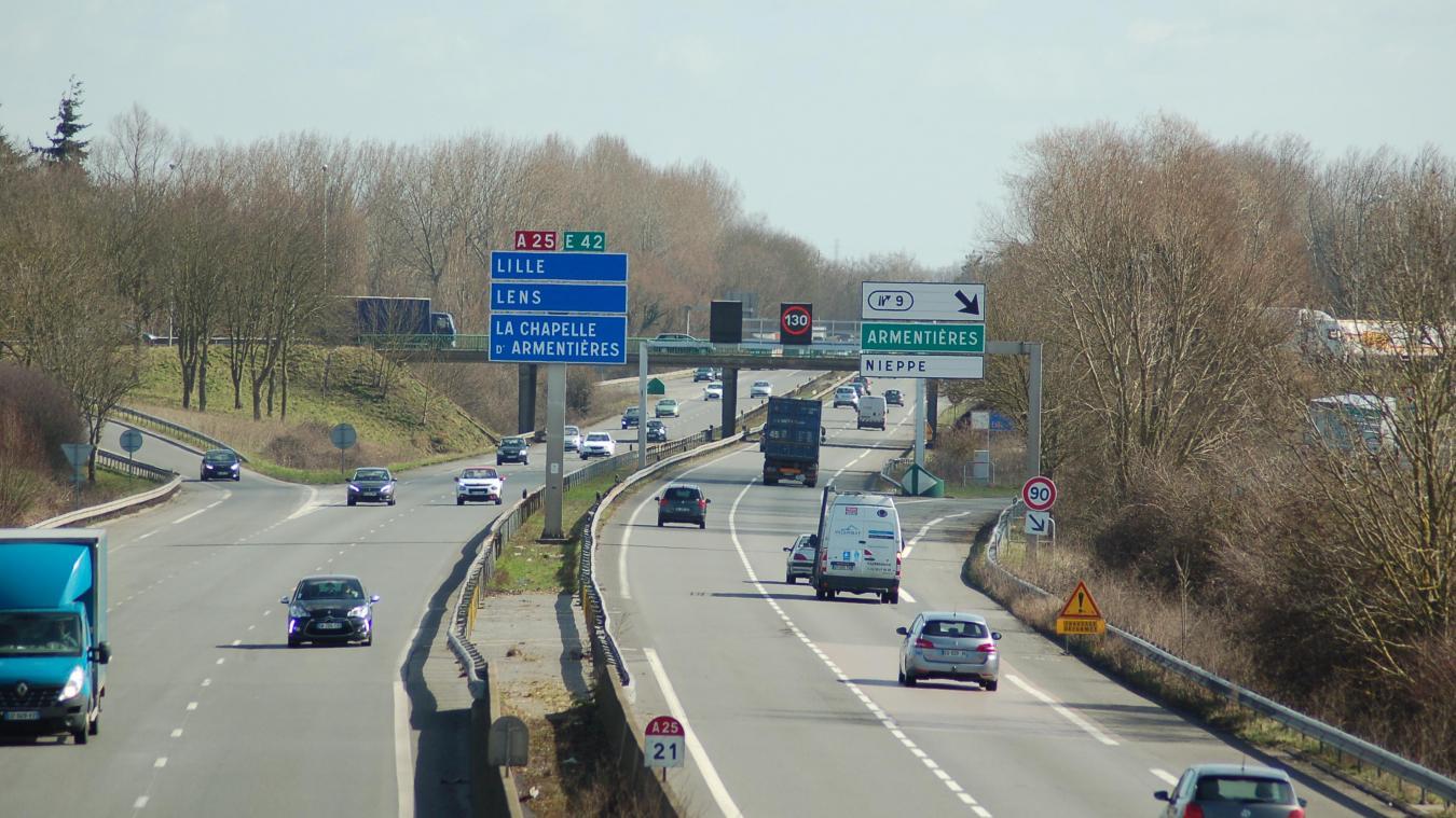 - A25 : pour éviter les bouchons, vous pourriez rouler à 70 km/h à partir de Bailleul