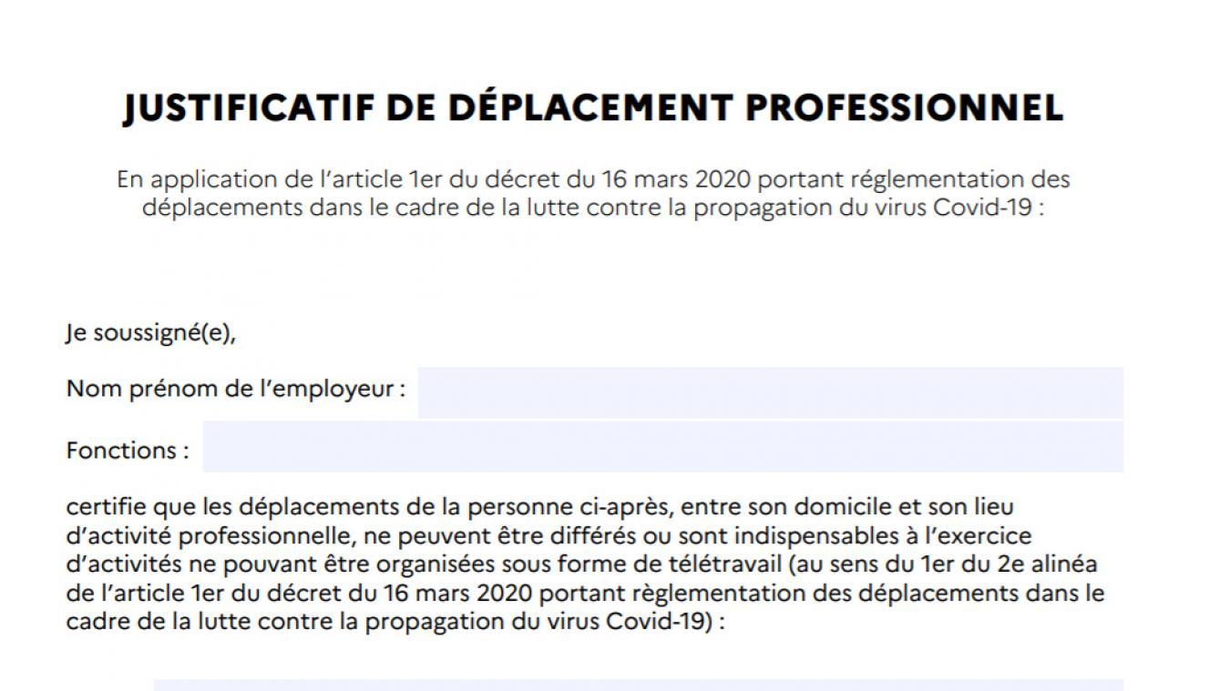 Téléchargez la nouvelle attestation de déplacement — Coronavirus et confinement