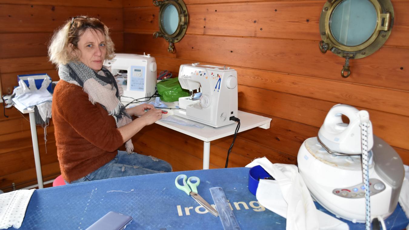 Armentières: future couturière à domicile, Catherine Flament confectionne  près de soixante masques par jour