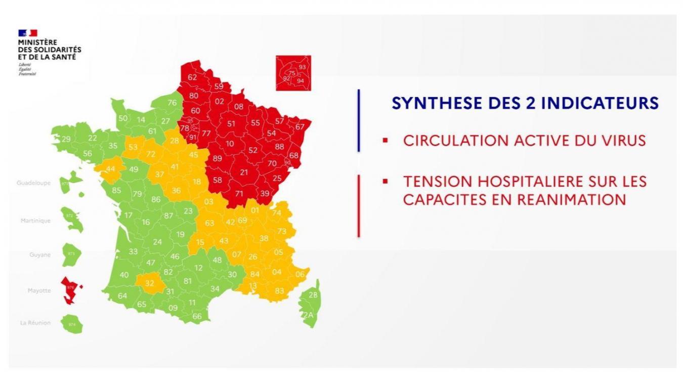 Le Nord et le Pas-de-Calais reste dans le rouge.