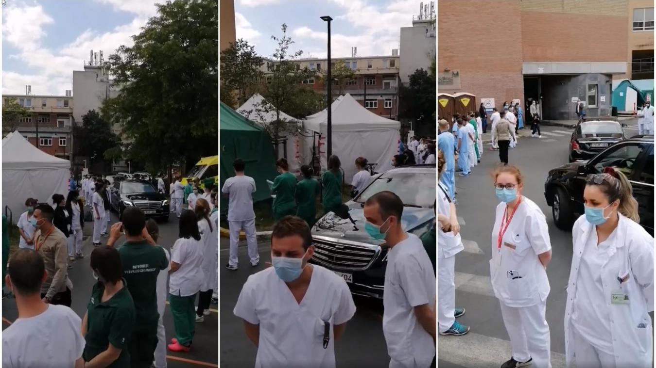 Belgique : l'incroyable accueil des soignants à leur Première ...