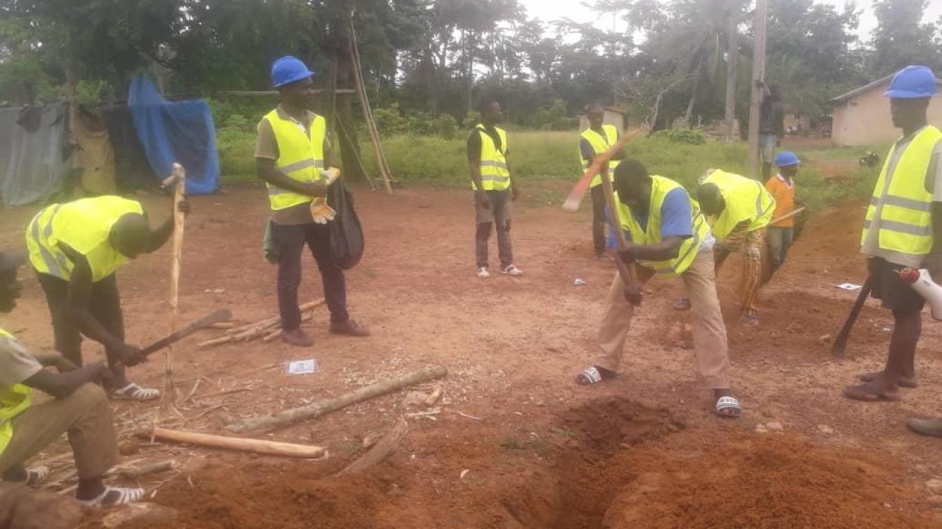 Débuté à la mi-mai, le chantier est prévu pour un an. Il permettra d'alimenter un village d'environ 1 500 habitants, en Côte d'Ivoire.