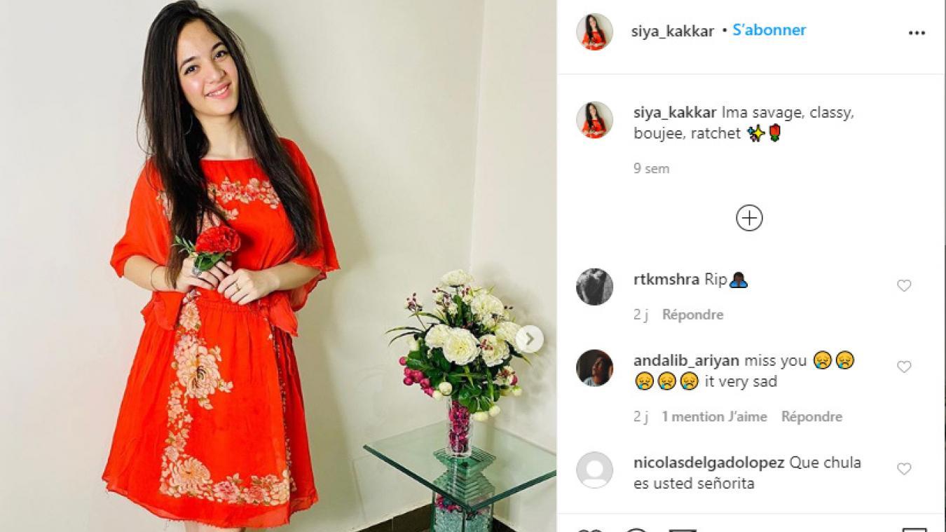 Siya Kakkar (16 ans), star de TikTok, s'est suicidée