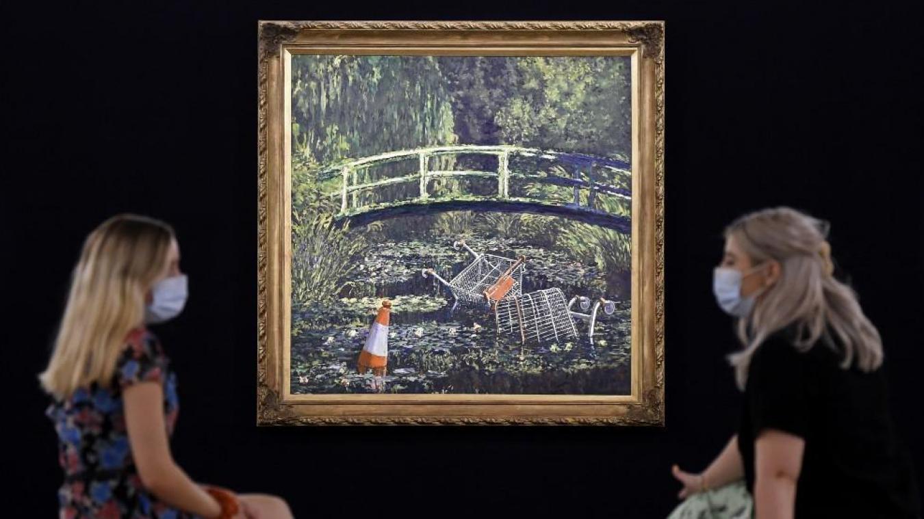 Banksy Un Tableau Parodiant Les Nympheas Adjuge A 7 6 Millions De Livres