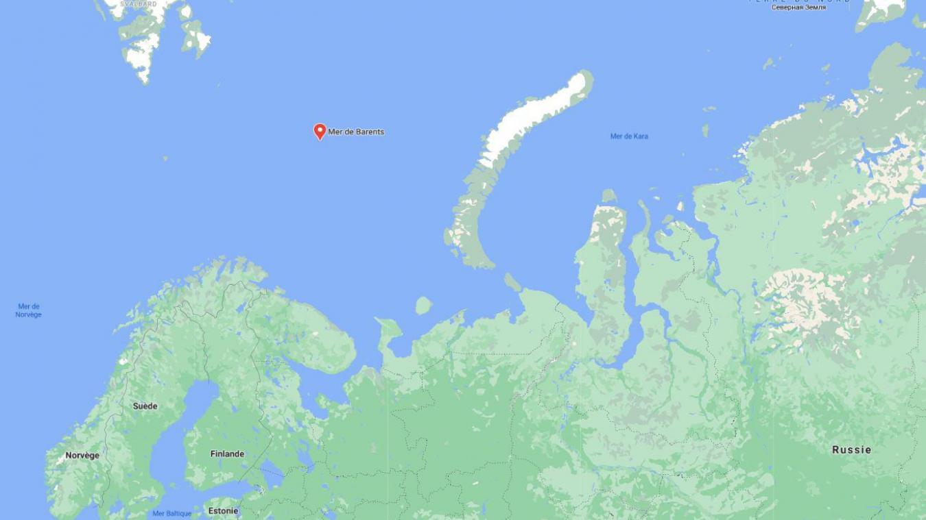 Le navire a coulé près de l'archipel de la Nouvelle-Zemble dans la mer de Barents.