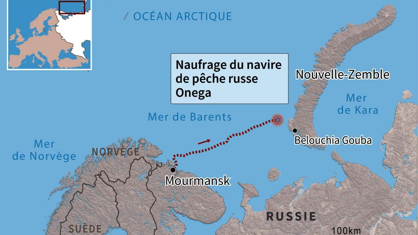Un navire de pêche coule dans l'Arctique, 17 personnes portées disparues — Russie