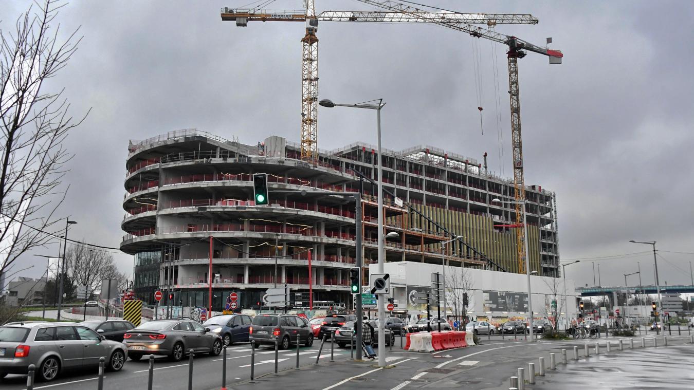 Plus gros chantier tertiaire au Nord de Paris, l'immeuble pourra accueillir 3 000 collaborateurs. PHOTO PIERRE LE MASSON