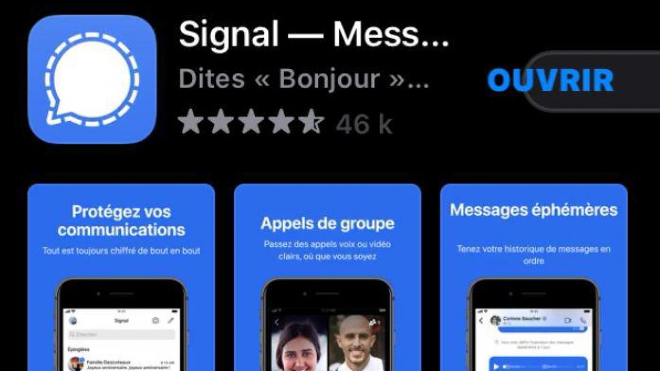 Nouvelles règles de WhatsApp : les téléchargements de l'application  concurrente Signal explosent