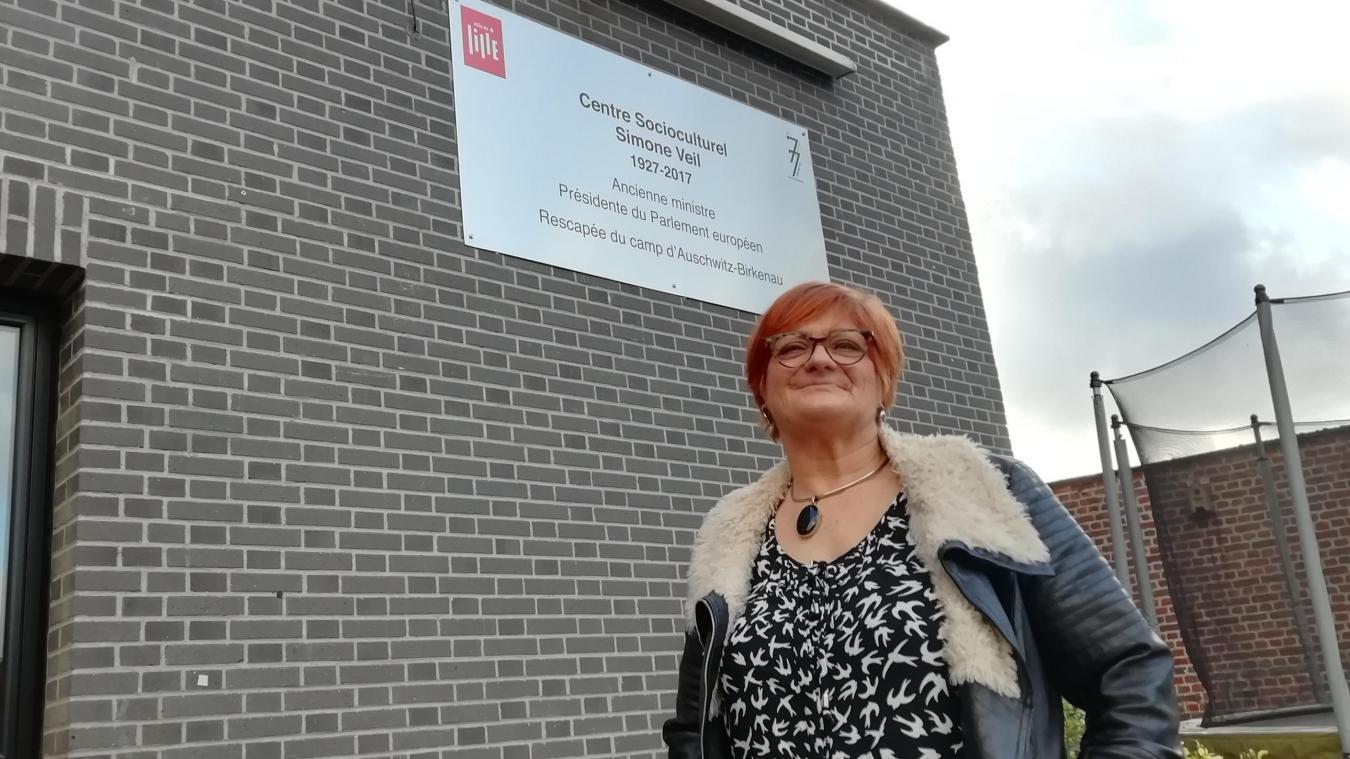 Marie Bourlet, nouvelle présidente du centre socio-culturel Simone Veil.