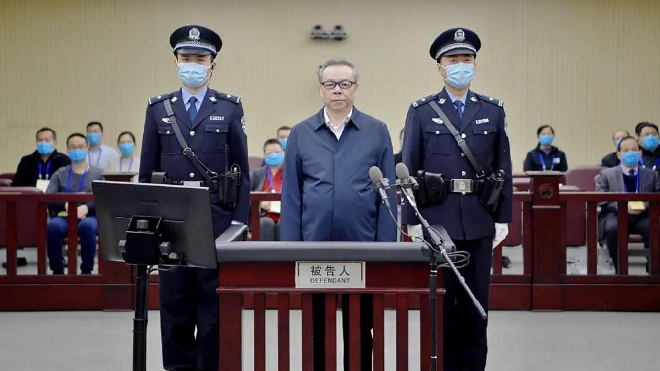 Lai Xiaomin ancien patron d'un fonds d'investissement accusé d'avoir touché pour plus de 215 millions d'euros de pots-de-vin