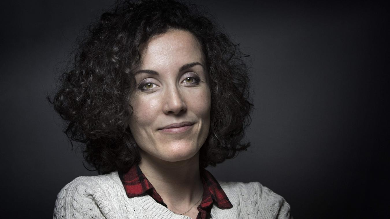 La dessinatrice Coco, de son vrai nom Corinne Rey, continuera a travailler pour Charlie Hebdo. Photo JOEL SAGET / AFP