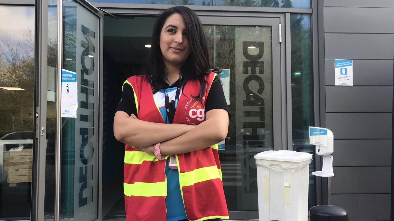 Samia Salhi, déléguée syndicale CGT, envisage de mettre en place un droit d'alerte et d'alerter l'inspection du travail. Photo La Voix