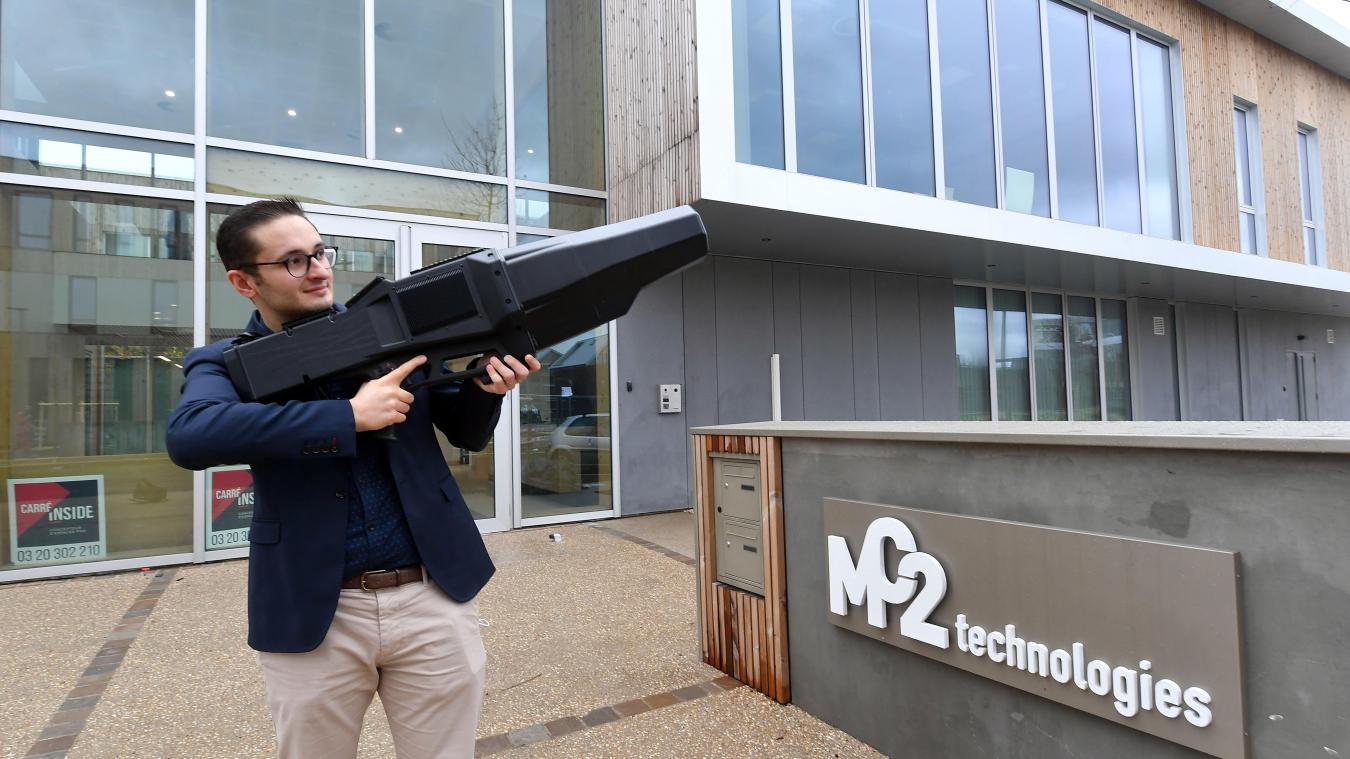Le fusil brouilleur de drone développé par MC2 peut être utilisé sur tous types de sites sensibles. PHOTO ARCHIVES PHILIPPE PAUCHET