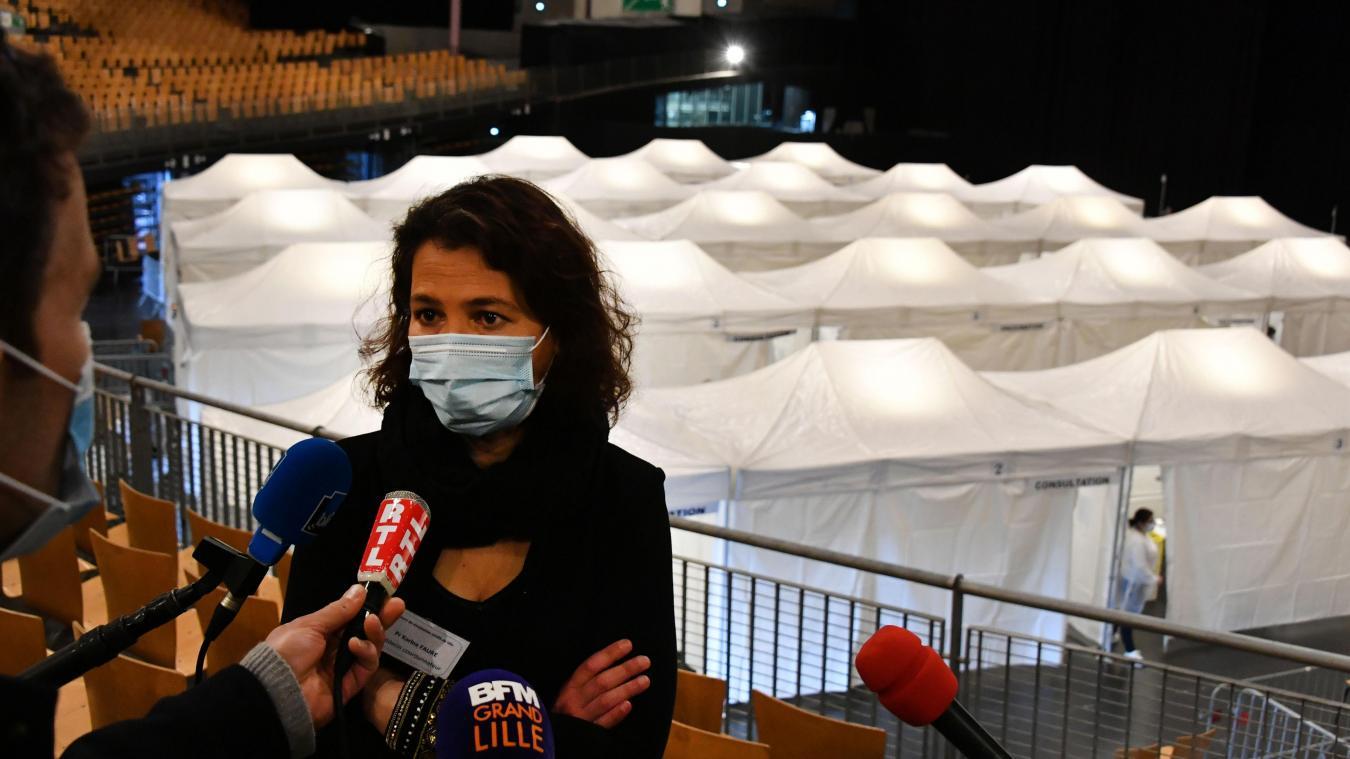 Cheffe du service des maladies infectieuses au CHU, Karine Faure a confirmé que le Zénith avait atteint sa vitesse de croisère. PHOTO PIERRE LE MASSON LA VOIX DU NORD