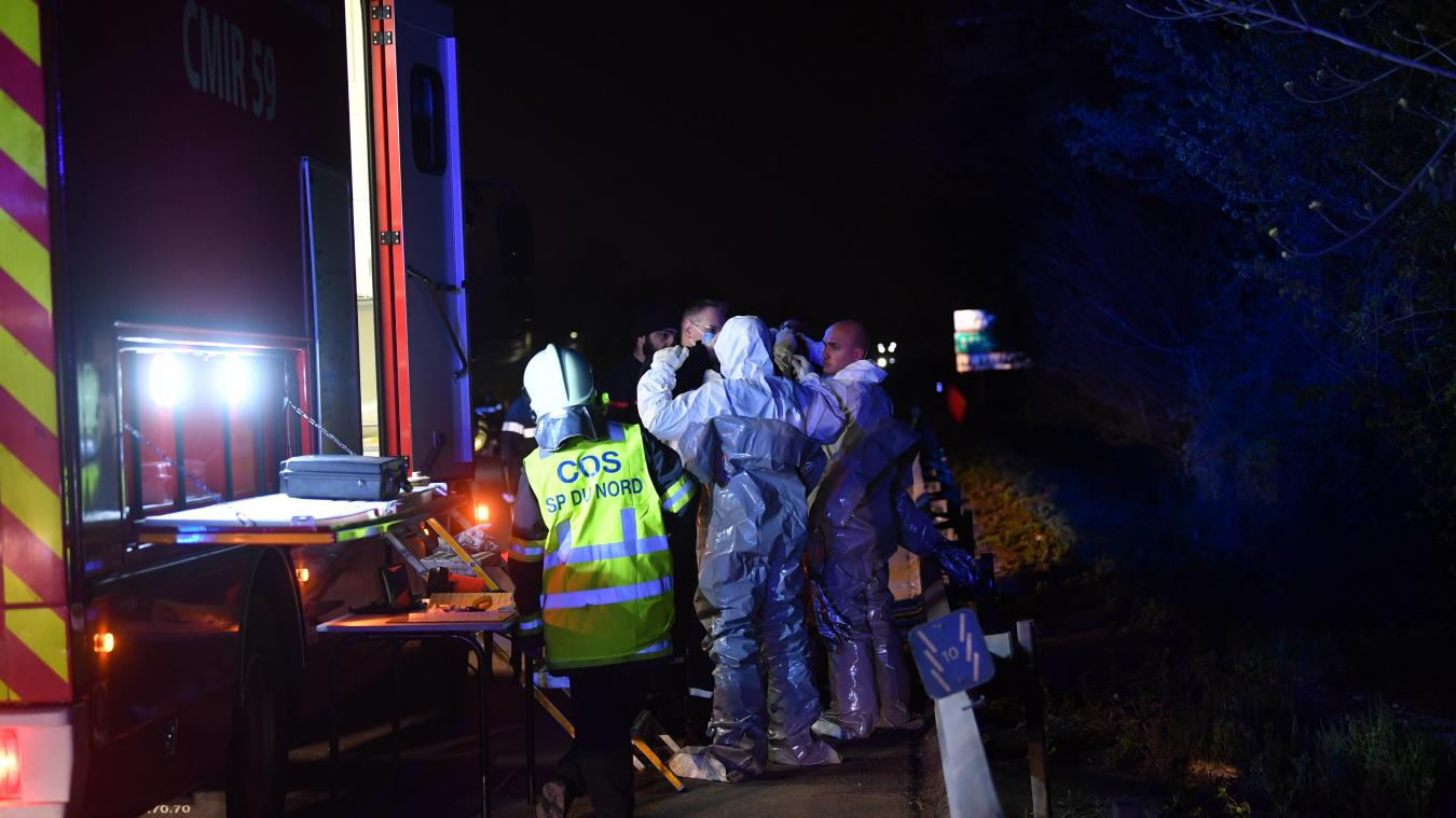 Un petit objet radioactif a été perdu sur l'A25 par une moto. PHOTO PHILIPPE PAUCHET LA VOIX DU NORD