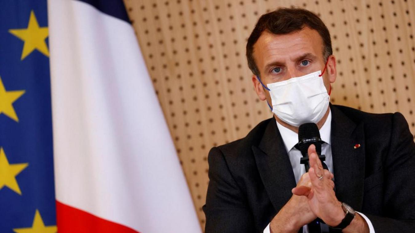 Dans une interview au Figaro, le président de la République indique qu'il souhaite un débat sur «les effets délétères» de la drogue. (Photo by CHRISTIAN HARTMANN / POOL / AFP)