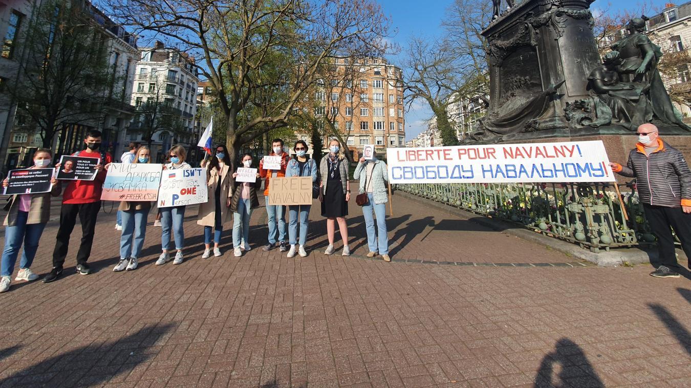 Lille: une petite communauté russe se rassemble en soutien à Alexeï Navalny