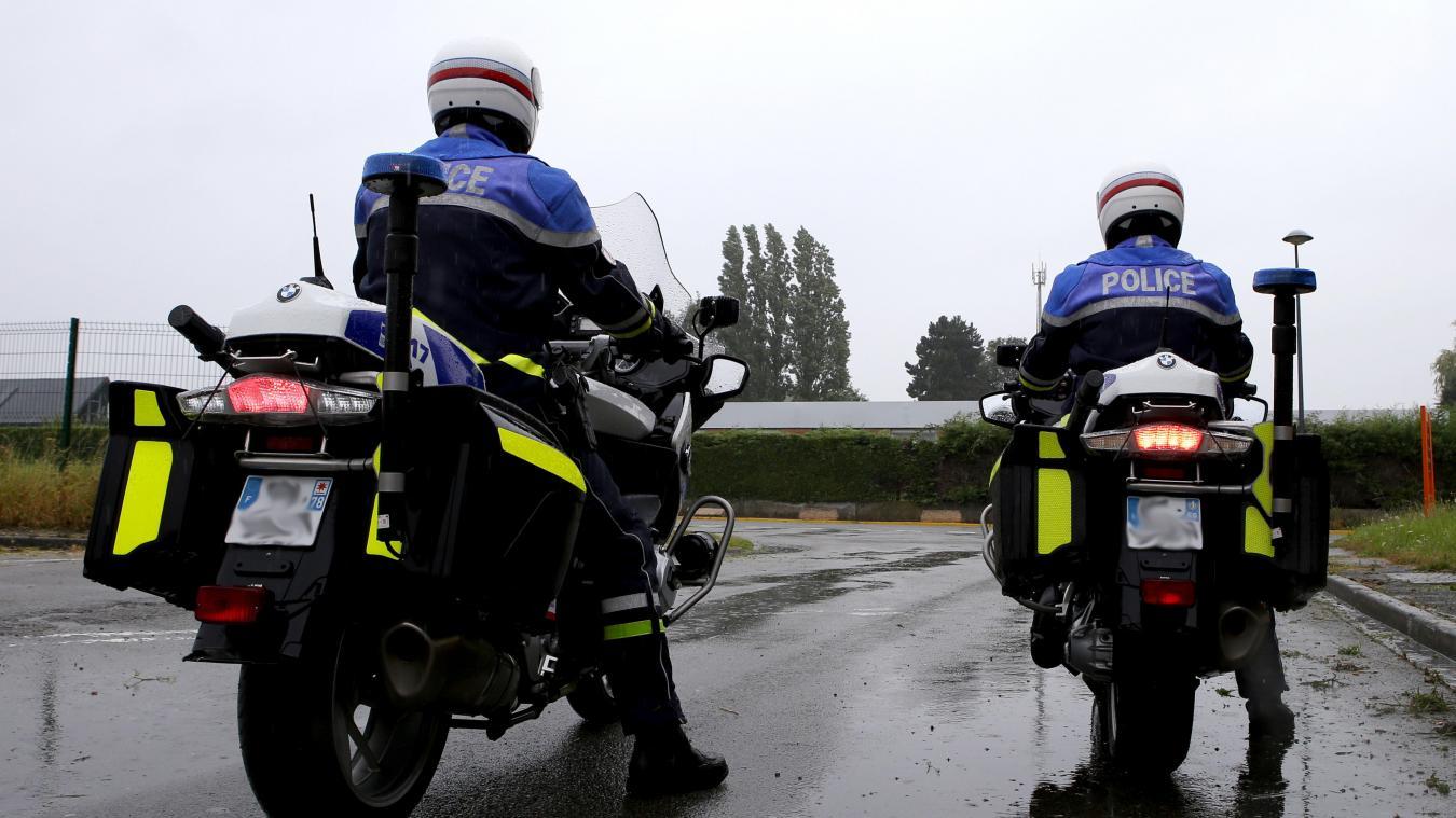 Un motard CRS a été blessé alors qu'il suivait un scooter auteur d'un refus d'obtempérer à Wazemmes. Photo archives