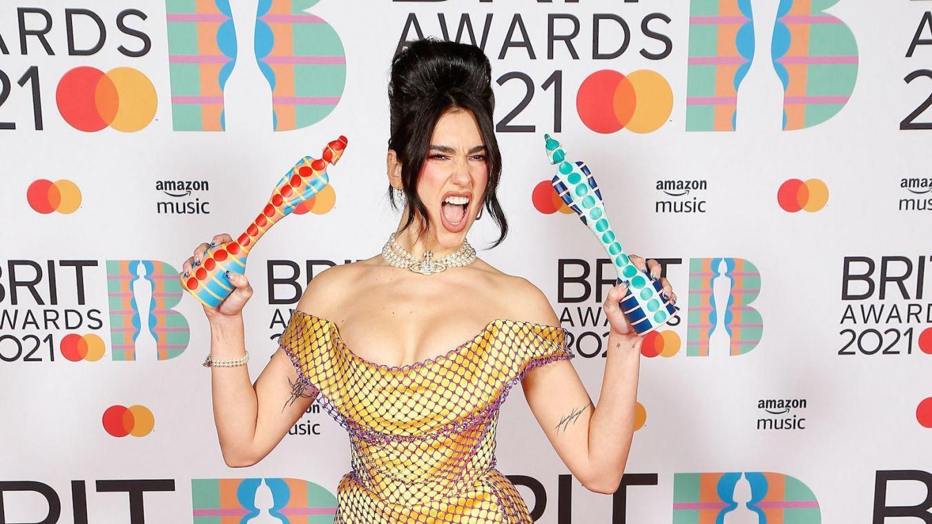 Brit Awards: Dua Lipa doublement sacrée