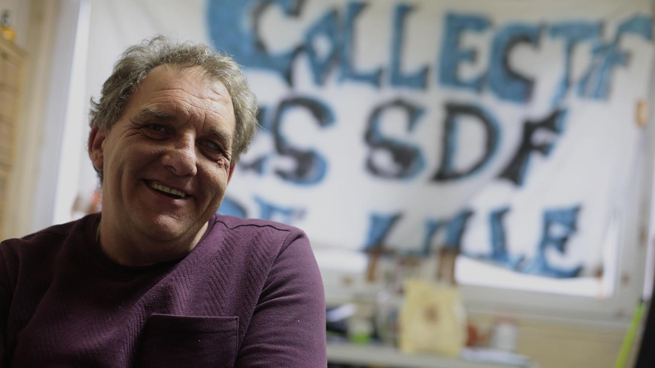 Gilbert Pinteau était le président du Collectif des SDF de Lille qu'il avait fondé en 2011 «sur un coup de colère», pour reloger d'autres sans-abri. PHOTO ARCHIVES PIB