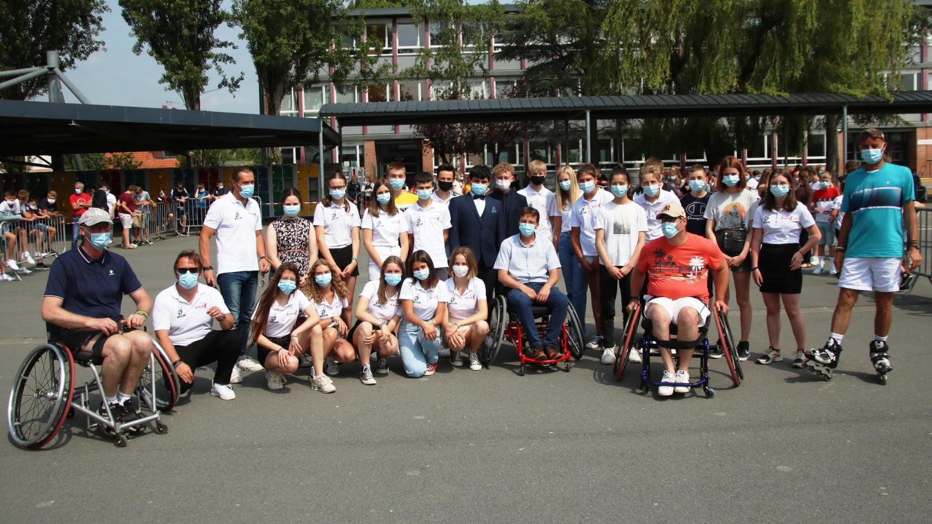 Arques : on jouera au tennis dans un fauteuil grâce à la ténacité de collégiens airois